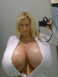 image Busty woman fucking massive dildos